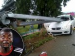 South Africa defender somehow survives horror crash in which his car is IMPALED