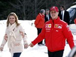 Corinna Schumacher, left, wants to bring her husband, right, home from hospital - even if he never wakes up