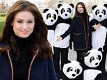 Switched on style! Sophie Ellis-Bextor goes for retro chic in navy blue swing coat to support WWF Earth Hour