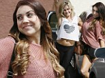 Such baring dancers! Lindsay Arnold flaunts toned tummy and Jenna Johnson displays a little leg at Dancing With The Stars practice