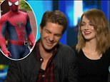 Size does matter! Andrew Garfield reveals girlfriend Emma Stone 'approved' of how his 'package' looked in Spider-Man suit during probing interview