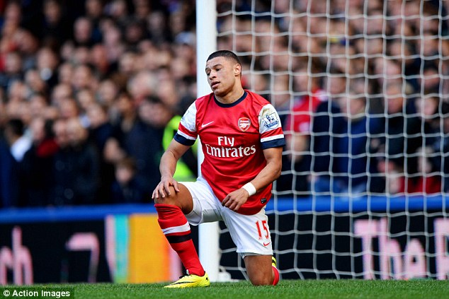 Back in action: Oxlade-Chamberlain (above) and Gibbs are both available for Arsenal's game against Swansea
