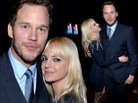Embraceable you! Anna Faris and Chris Pratt are matching in blue as he wins Breakthrough Performer award in Las Vegas