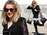 Who needs a handbag when you have a baby basket? Teresa Palmer steps out in LA looking great with baby son on her arm