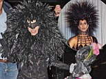 Turning Back Time: Lady Gaga rocked an unusual look on Thursday that seemed to be inspired by a combination of Cher's outfits at the Oscars in 1986 and 1988