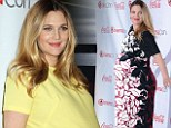 Blooming lovely! Pregnant Drew Barrymore goes from canary yellow dress to floral maxi as she shows off huge baby bump at Vegas Cinema Con