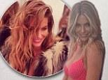 Jennifer Hawkins looks stunning as she teases fans in just a bra and faux fur coat for Loveable underwear range