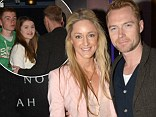 Happy families: Ronan Keating and girlfriend Storm looked like they were a happy family at the Noah premiere in Dublin