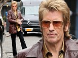 Disco Denis! Comedian Leary steps out in a Seventies-inspired ensemble on-set of his new pilot Sex&Drugs&Rock&Roll
