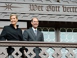 Humble: The timber chalet may be impeccably-finished but it was modest by Royal standards, with space only for the live-in caretakers and the children