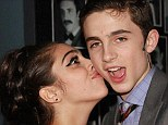 Young love: The couple met during a school production at the prestigious LaGuardia high school in NYC