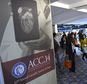 People attend the American College of Cardiology's conference in Washington, Saturday, March 29, 2014. A new class of experimental medicines can dramatically...