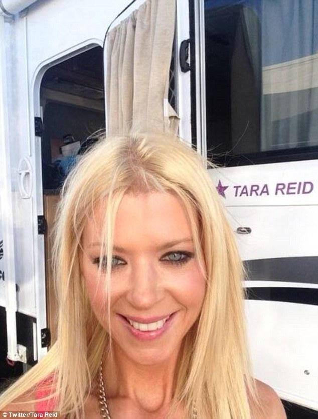 Star appeal: Tara also posted a less revealing picture of herself on the set of upcoming horror movie Charlie's Farm
