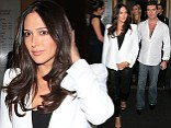 All-white night: The pair had a busy Saturday evening as they made their way from Nobu to a party