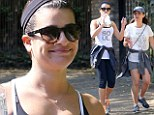 'Perfect way to start the day!' Lea Michele bonds with her mother on morning hike