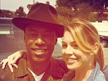 'Burke is back!' Ellen Pompeo cosies up to Isaiah Washington as he returns to Grey's Anatomy set