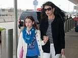 Running late? Catherine Zeta-Jones seemed to be in a massive hurry as she rushed to La Guardia Airport in New York City on Friday, along with her daughter Carys and husband Michael Douglas