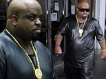 Black leather-clad CeeLo Green returns to LA court for hearing on felony charge of furnishing a controlled substance