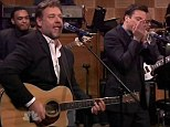 Rolling back the years: Russell Crowe performed a Johnny Cash song on The Tonight Show With Jimmy Fallon on Thursday night