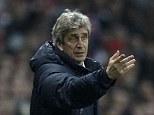 Happy days: Manuel Pellegrini has been praised by Manchester City's director of football Txiki Begiristain