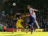 Chelsea captain John Terry heads into his own net against Crystal Palace to dent the Blues' title hopes