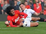 Out of sorts: Marouane Fellaini has done little to justify his big-money move to Old Trafford