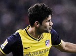 Goal machine: Diego Costa celebrates after equalising for Atletico Madrid in his side's clash with Bilbao