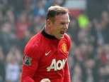 Pumped: Wayne Rooney scored twice as Manchester United beat Aston Villa in a must-win clash