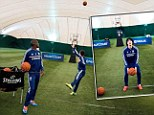 Chelsea players try basketball