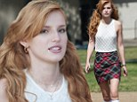 Bella Thorne rocks pigtails and schoolgirl ensemble on the LA set of Mostly Ghostly 2: Have You Met My Ghoulfriend?