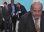 Rip your trousers? Kelsey Grammer strips off as he films Breaking the Bank in London with Mathew Horne and Danny Morgan