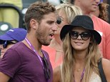 Is he Wanted? Nina Agdal wows in denim hot pants and lacy camisole as she attends Sony Open with hunky male companion