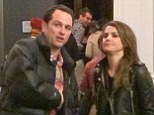 PICTURED: Keri Russell enjoys 'date night' at the theatre with her Americans co-star Matthew Rhys