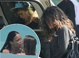 The holiday's over! Cara Delevingne and Michelle Rodriguez look glum as they head home after romantic Mexican getaway