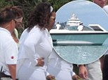 Oprah Winfrey brings best friend Gayle King on a yacht cruise while on holiday in the Virgin Islands