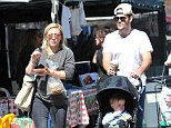 Separated Hilary Duff and Mike Comrie play happy families with son Luca at Farmers' Market... where they bump into Rachel Zoe