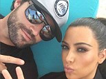 'Brother and sister time!' Brody Jenner shares selfie with Kim Kardashian in a black bikini on a Thai beach