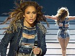 I luh ya Dubai! Jennifer Lopez fails to tone down her sexy style as she hits the stage in hotpants and silver bra at the horse-racing