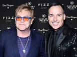 Wedding bells: Sir Elton John and David Furnish, pictured in Las Vegas on Friday, will marry in May