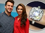 'We're engaged!' Katherine Webb flashes a massive diamond sparkler after footballer A.J. McCarron pops the question