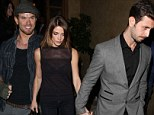 Ashley Greene sizzles in sheer top while hand-in-hand with boyfriend after they party until Twilight with her co-star Kellan Lutz