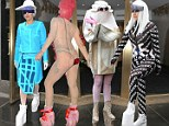 Lady Gaga celebrates turning 28 in her 'birthday suit' and FOUR other wacky ensembles at Roseland Ballroom