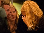 Chris Martin and Gwyneth Paltrow have dinner together with friends in the Bahamas after announcing they are separating