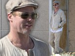 Beige is the new black! Brad Pitt wears head-to-toe khaki for the second time in France
