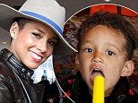 Just like mum! Alicia Keys and son Egypt wear matching leather jackets to cool off with a Popsicle after special Rio 2 screening in New York City