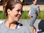 All hail kale! Brooke Burke-Charvet showed her love of the health food as she attended a fitness class in Malibu, California on Sunday