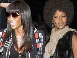 EXCLUSIVE 'In order to stand the test of time you have to reinvent yourself': Naomi Campbell swaps her Afro for sleek raven locks as she gives talk at Vogue Festival
