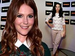 Series stars: Darby Stanchfield and Katie Lowes attended the Scandal season three wrap party on Sunday held at the Microsoft Lounge in the Venice area of Los Angeles