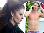 Party's over! Patrick Schwarzenegger looks distraught as mother Maria Shriver jets into Miami