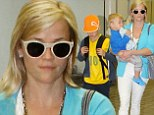Touch down! Reese Witherspoon flew to Miami, Florida on Saturday with her sons